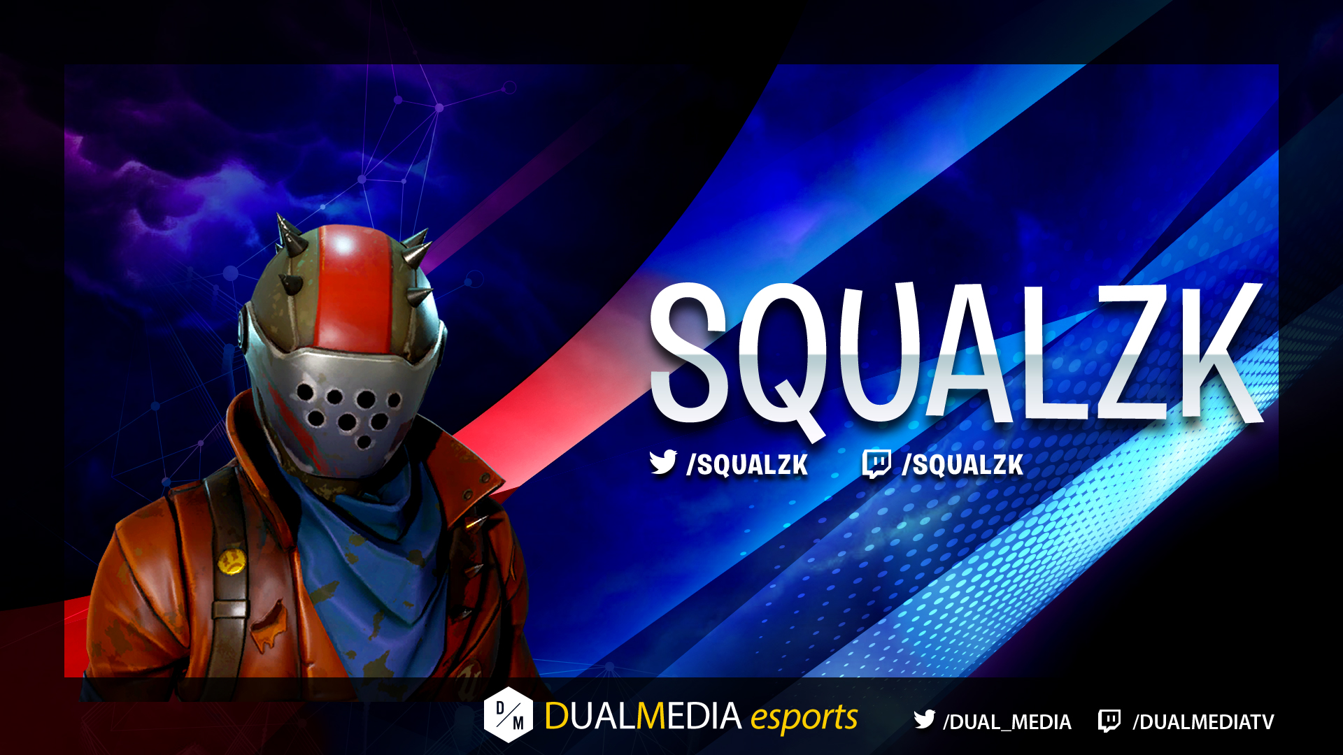 DualMedia Squalzk Joueur Fortnite